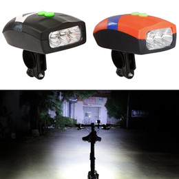 $enCountryForm.capitalKeyWord NZ - 3LED Bike Bicycle Light Universal White Front Head Light Cycling Lamp + Electronic Bell Horn Hooter Siren Waterproof Accessories