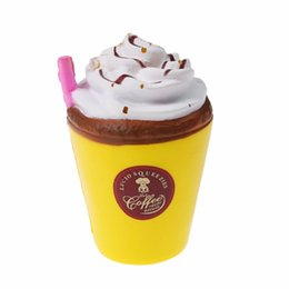 Latex Toys UK - Original 11CM Jumbo Milk Coffee Cup Squishy Slow Rising Cute Strawberry Cream Carton Soft Phone Straps Scented Fun Kid Toy Gift
