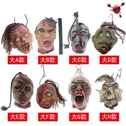 killer masks Australia - Party masks 1pc Resin Halloween Simulated Killer Ghost Full Mask Party Decoration For Bar Haunted House Horrible Decor