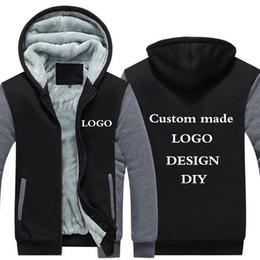 $enCountryForm.capitalKeyWord NZ - Xijun US Size Custom made Winter Hoodies Sweatshirts for men Thick Fleece Zipper Hooded Jackets Adult Sportswear Coats