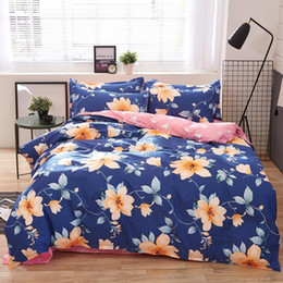 $enCountryForm.capitalKeyWord Australia - Solstice Home Textile Fashion Pastoral Style 4 Pcs Bedding Set Bed Sheet+duvet Cover+pillowcase Cloud Bed Cover Bedlinens 5 Size