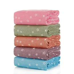 $enCountryForm.capitalKeyWord UK - 1 piece Stars Dove Print 100% Cotton Blanket For Adults Women Children Rectangle 150x200cm In Bedroom Factory Direct