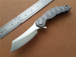 Custom flippers online shopping - KIMTER Magic Chav Custom CPM D2 Steel blade Satin Razor TC4 Titanium alloy EDC Folding Knife Survival Knives Flipper KVT Ball Bearing system