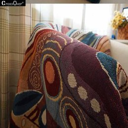 Wholesale Hot sale Peacock Butterfly Pattern Cotton Blanket Blossom Bohemian Style Sofa Cover Decorative blanket for Living Room Bedroom