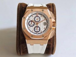 $enCountryForm.capitalKeyWord NZ - new rose gold jf watch top sell items automatic brand watch with white rubber strap the most popular watches chronograph movement