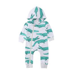 8b2984fee Newborn baby boy animal hooded jumpsuit crocodile pajamas long sleeves  autumn spring romper playsuit infant baby kid clothing rompers 0-24M