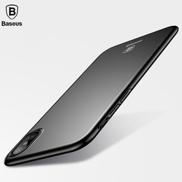 $enCountryForm.capitalKeyWord NZ - Baseus Smooth Plastic Case For iPhone X Luxury Hard Matte Cases For iPhone X Case Ultra Thin PC Back Phone Accessories Cover