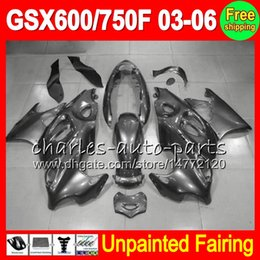 Unpainted Fairings Australia - 8Gifts Unpainted Full Fairing Kit For SUZUKI GSX750F Katana GSX600F GSXF 600 750 03 04 05 06 2003 2004 2005 2006 Fairings Bodywork Body kit