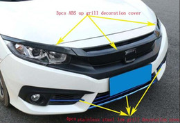 $enCountryForm.capitalKeyWord NZ - High quality 3pcs car up grill decoration cover,4pcs low grill decoration cover For Honda Civic 2016-2018
