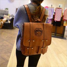 eec39278f45 Korean Design PU Leather Backpack Women Backpacks For Teenage Girls School  Bags BTS Vintage Men preppy Backpack Mochilas Mujer