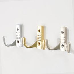 $enCountryForm.capitalKeyWord NZ - 3PCS Zinc Alloy Coat Hooks Wall Door Clothes Coat Hat Hanger Robe Hook Home Kitchen Wall Door Bathroom Rustproof Towel Double Hangers