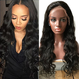 Hair Waves Online Australia - ZhiFan lace front wigs loose curls indian hair wigs wholesalers indian wigs online 8-22inch natural wavy DHL FREE SHIP