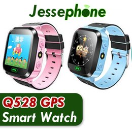 gps tracker kids wholesale NZ - 2018 New Q528 Kids Real GPS Tracker Watch Kids Smart Watch with Flash Light Touch Screen SOS Call Location Finder for Child DHL