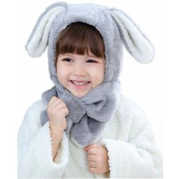 Baby Velvet Caps UK - Baby Winter Hat New Velvet Cartoon Ear Cap Kids  Neck 5a542ae899d1