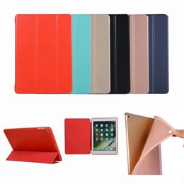 Ipad aIr leather cases online shopping - Magnetic Slim Leather Smart Case Flip Folding Folio Stand Cover Shockproof TPU Cases For iPad Pro Mini Air