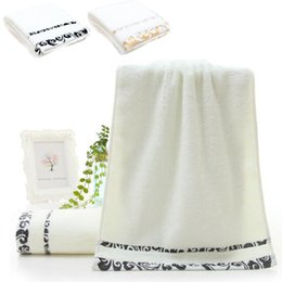 online shopping Embroidery Cotton Towel Set Face Towels Bath Towel For Adults Washcloths High Absorbent Antibacterial