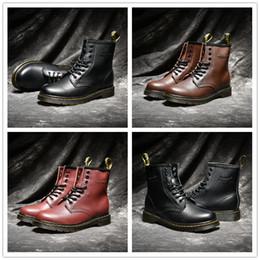 2018 Alta Calidad Reino Unido Clásico 1460 Botas Al Aire Libre Tobillo Botas de Nieve de Invierno Negro Marrón Vino Rojo Mujer Para Hombre Zapatos de Diseñador de Moda Tamaño 35-44