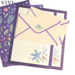 writing sets wholesale UK - Vividcraft Korean Envelopes And Stationery Kids Gift Envelope Finely Flower Animal Letter Paper+ Envelopes Sets Writing Paper