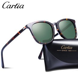 eb4e228c82 Luxury-Carfia 5358 polarized sunglasses square designer sunglasses 50mm 3  colors glasses mens women with case