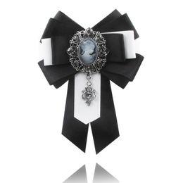 $enCountryForm.capitalKeyWord UK - Fashion pure cotton Ribbon Handmade Make Brooches Pins Hot Sale Bowknot Trendy Needle Clasp Type Charm Women Tie Bow Brooches