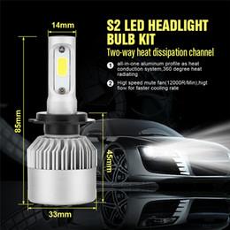 Headlamp beam online shopping - 2PCS H7 car LED COB DC V Headlight Kit K White Car Bulbs Lamps Light W LM Auto Bulb Headlamp Fog Light Beam
