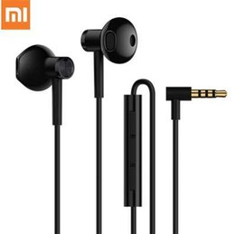 Speaker Ear Australia - 2018 Newest Xiaomi Dynamic Ceramic Speaker Dual Driver Earphone 3.5 MEMS Microphone Hi-Res Audio Half In-Ear Earphones