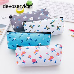 Stationery crayonS online shopping - Kawaii Fower Pencil Bag Simple Large Capacity Pencil Case Student Stationery Small Fresh De Crayon Fournitures Scolaire
