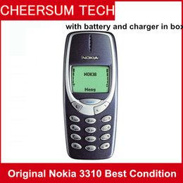 $enCountryForm.capitalKeyWord NZ - Free DHL Refurbished Original NOKIA 3310 Cell Phone GSM 900 1800 DualBand Games 4 Unlocked Cheap nokia phone with retail box