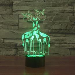 $enCountryForm.capitalKeyWord NZ - Lovely Giraffe 3D Animal Giraffe LED Night Light 3D LED USB 7 Color Change Table Lamp Xmas Gift #R76