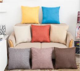 linen gold 2019 - 200pcs Solid Color Pillow Covers Cushions Cover Linen Fashion Office Sofa Chair Home car Pillowcase G345 cheap linen gol