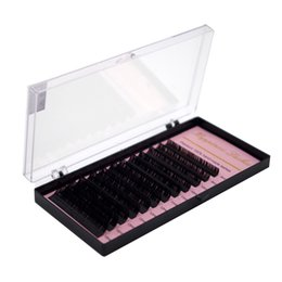 Eyelash Curl 3d UK - HPNESS 10 Trays Lot Eyelash Extension 3D Individual Lashes C D U Curl All Sizes 8-15mm Mixed Length in One Tray
