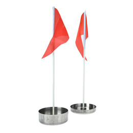 Golf sticks online shopping - 1PC Golf Green Hole Cup Stainless Steel Red Golf Flag for Backyard Practice Flags Stick Putting Green Flag Stick