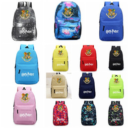 house bags cartoon 2019 - Harry Potter backpack 45*31*15cm Hogwarts Houses Printed Sport Laptop School Bags Gryffindor Lytherin Hufflepuff Ravencl