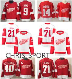 Detroit Red Wings premier hockey jerseys  71 Dylan Larkin 40 Henrik  Zetterberg 9 Gordie Howe 14 Gustav Nyquist 21 Tomas Tatar player wear 39b348599