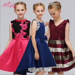 Wholesale 2018 New Pattern European Children Girls Dress Princess Flower Girl Dress Full Dress Kids Girl Summer Clothes