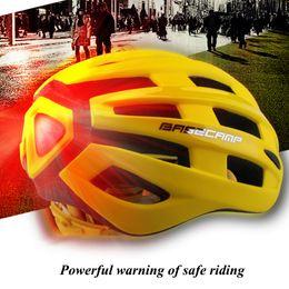 Mtb Bike White NZ - Ultralight Bicycle Helmet Aero Capacete Road Mtb Mountain XC Trail Bike Cycling Helmet With Warning Light 50-56cm Ciclismo