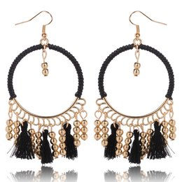 $enCountryForm.capitalKeyWord UK - Manual rings Woman Tassels Earring Wrap Cloth Chain Exaggeration Earring pearl Halloween earrings crystal piercing Cheap wholesale