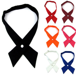 Wholesale adjustable bow tie cross bowkadjustable bow tie cross bowknot school neckwear universal student evening party cosplay accessory host 2pcs