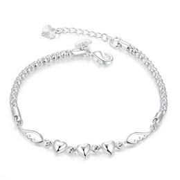 $enCountryForm.capitalKeyWord Australia - Heart feather bracelet sterling silver plated bracelet ; Brand new fashion men and women 925 silver bracelet SPB365