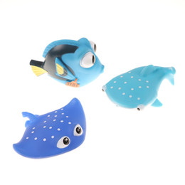 Toys Water Sound Baby NZ - 1PCS Baby Bath Toys Squeeze Sounding Debbling Toys Kids Float Water Tub Rubber Bathroom Play Animals