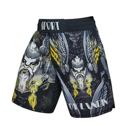 Wholesale 2018 New Men Brand D Print Cosplayer Anime Reality Show Print Compression Shorts BJJ Jogger Fitness MMA Dragon Men s Shorts
