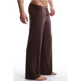 Sleep Clothes NZ - Sleep Bottoms Men's casual trousers soft comfortable Men's Sleep Bottoms Homewear XL pants pajama Lacing loose Lounge clothing
