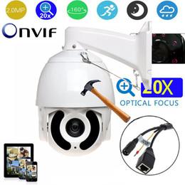 Venta al por mayor de 7 pulgadas HD 2MP cámara domo de alta velocidad 20X zoom 1080P 150m IR cámara CCTV al aire libre TP PTZ cámara domo