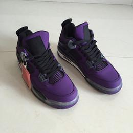 2018 Трэвис х 4 Хьюстон фиолетовый мужчины баскетбол обувь 4s Rouge-Noir кактус Джек мужская Марка дизайнер кроссовки с коробкой