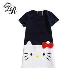 92bbebbd7 9 Color 2017 Summer Girl Dress Children Clothing Hello Kitty Printed  Princess Dress Kids Baby Gilr Clothes Cotton Casual Dresses