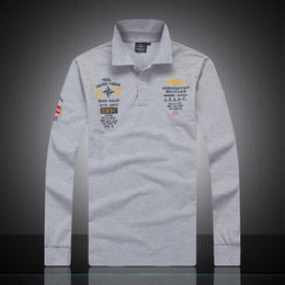 Fashion Polo Mens Tops NZ - 2018 New Hot Sale 4 Colors Polo Shirts Mens Luxury Solid Long Sleeve T Shirt Summer Fashion Mens Basic Casual Tops Tees Free Shipping
