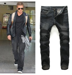 Jeans para hombres Pantalones largos rectos Casual High Streetwear Slim Fit Youth Dark Black Demin Jeans Plus Size