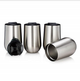 $enCountryForm.capitalKeyWord UK - 20PCS-16OZ Egg Cups with Lids 304 Stainless Steel Tumbler Thermos Coffee Mugs Water Bottles Party Supplies Flask Wine Glasses