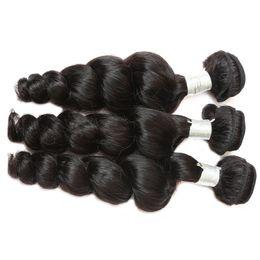 $enCountryForm.capitalKeyWord NZ - 12A Loose Wave Raw Human Hair 3 Bundles With Natural Color Top Grade Quality Brazilian Peruvian Malaysian Indian Hair 12-30 inch
