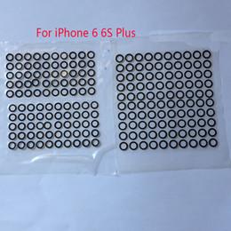 2d885de3e Venta al por mayor original negro trasera de la cámara lente de la tapa del  anillo de cristal para el iphone 6 6 más 6 s 8 7 7 plus con pegamento  adhesivo ...